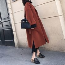 Street Style Plain Long Office Style Chester Coats