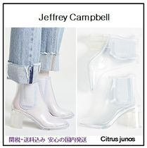 Jeffrey Campbell Plain PVC Clothing Chunky Heels Ankle & Booties Boots