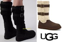 UGG Australia Round Toe Rubber Sole Casual Style Suede Street Style Plain