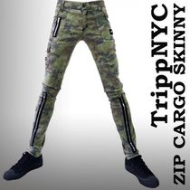 TRIPP NYC Camouflage Unisex Street Style Cotton Skinny Fit Pants