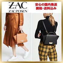 ZAC ZAC POSEN Calfskin 3WAY Plain Elegant Style Backpacks