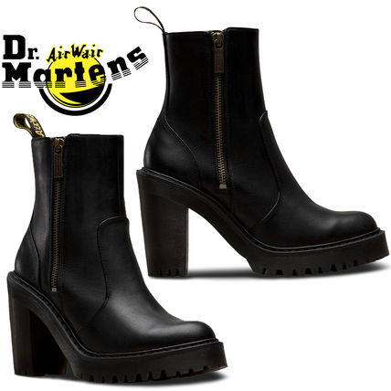 10fa322c814 ... Dr Martens High Heel Casual Style Unisex Street Style Plain Leather  Block Heels ...