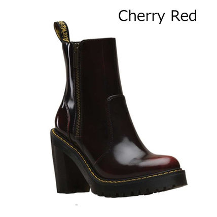 f30d48b51b1f2 Dr Martens High Heel Casual Style Unisex Street Style Plain Leather Block  Heels 7 ...