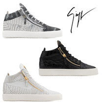 GIUSEPPE ZANOTTI Driving Shoes Street Style Other Animal Patterns Leather