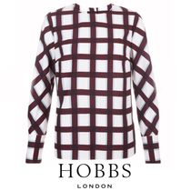 Hobbs London Other Check Patterns Long Sleeves Medium Office Style