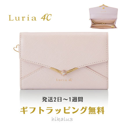 Plain Leather With Jewels Card Holders