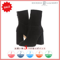 CHINESE LAUNDRY Round Toe Casual Style Suede Plain Chunky Heels