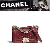 CHANEL 2WAY Plain Leather Shoulder Bags