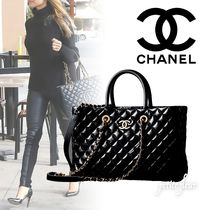 CHANEL A4 2WAY Chain Plain Office Style Shoulder Bags