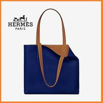HERMES Casual Style Calfskin Plain Totes