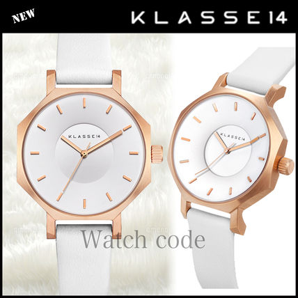 Leather Round Party Style Quartz Watches Analog Watches