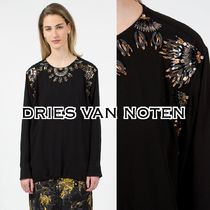 Dries Van Noten Long Sleeves With Jewels Elegant Style Shirts & Blouses