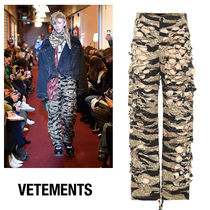 VETEMENTS Printed Pants Camouflage Unisex Street Style Cotton