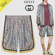 GUCCI Monogram Nylon Joggers Shorts