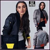ELLY PISTOL Casual Style Bomber Jackets