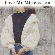 I love Mr Mittens Wool Plain Puff Sleeves Cardigans