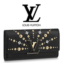 Louis Vuitton Plain Leather With Jewels Long Wallets