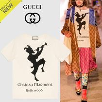 dddfe709a74 GUCCI 2019 Cruise Crew Neck Short Bi-color Cotton Short Sleeves Oversized ( 492347 XJAN4 7263) by FreeAgent - BUYMA
