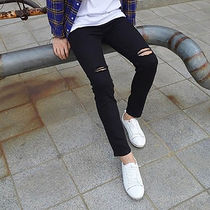 Street Style Plain Cotton Oversized Skinny Fit Jeans & Denim
