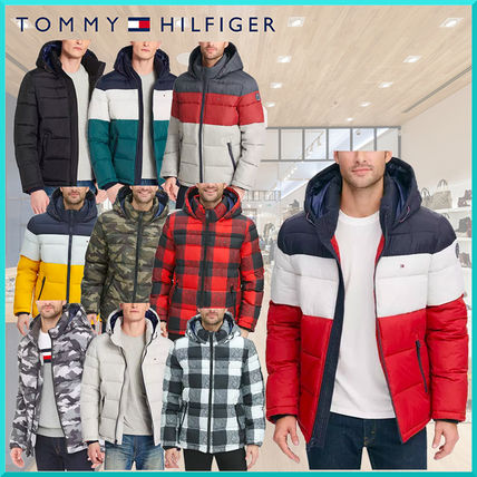 Short Camouflage Street Style Plain Down Jackets