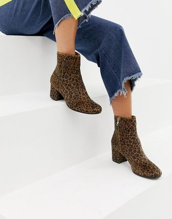 Leopard Patterns Round Toe Casual Style
