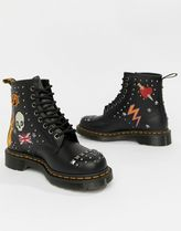 Dr Martens 1460 Union Jack mark Round Toe Rubber Sole Casual Style Studded