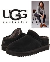 UGG Australia CLASSIC SLIPPER Unisex Sheepskin Plain Slip-On Shoes