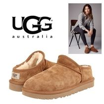 UGG Australia CLASSIC SLIPPER Sheepskin Plain Slip-On Shoes