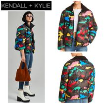 Kendall + Kylie Camouflage Street Style Medium Down Jackets