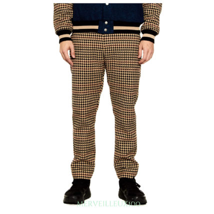 Tapered Pants Zigzag Street Style Tapered Pants