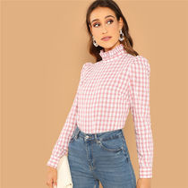 Other Check Patterns Street Style Long Sleeves Medium