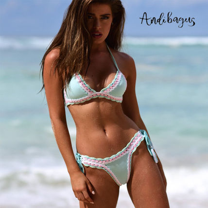 ANDI BAGUS Flower Patterns Dots Street Style Handmade Swimwear