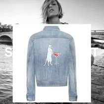 Saint Laurent Casual Style Denim Street Style Medium Jackets