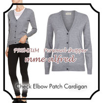 Burberry Other Check Patterns Casual Style Wool Long Sleeves Plain