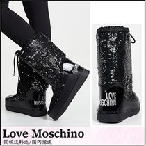 Love Moschino Rubber Sole Street Style Plain Outdoor Boots
