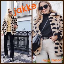Jakke Dots Faux Fur Medium Cashmere & Fur Coats