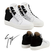 GIUSEPPE ZANOTTI Driving Shoes Street Style Bi-color Leather
