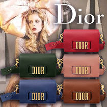 Christian Dior Casual Style Calfskin 3WAY Plain Shoulder Bags