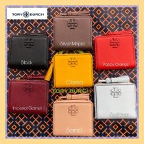 Tory Burch Ostrich Leather Folding Wallets