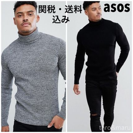 Street Style Long Sleeves Plain Knits & Sweaters