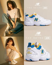 New Balance Round Toe Casual Style Unisex Low-Top Sneakers