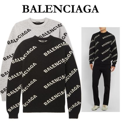 BALENCIAGA Knits & Sweaters Wool Long Sleeves Knits & Sweaters