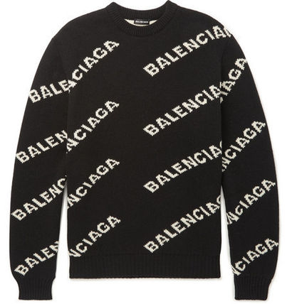 BALENCIAGA Knits & Sweaters Wool Long Sleeves Knits & Sweaters 2