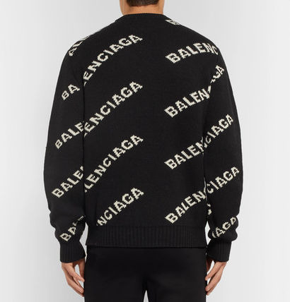 BALENCIAGA Knits & Sweaters Wool Long Sleeves Knits & Sweaters 4