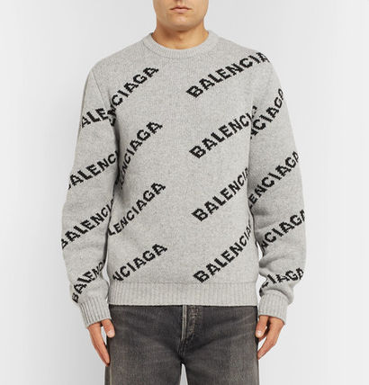 BALENCIAGA Knits & Sweaters Wool Long Sleeves Knits & Sweaters 8