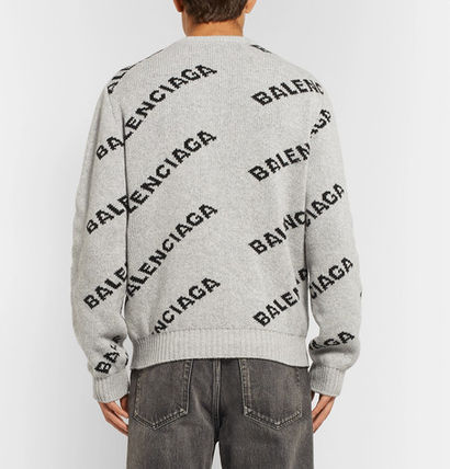 BALENCIAGA Knits & Sweaters Wool Long Sleeves Knits & Sweaters 9