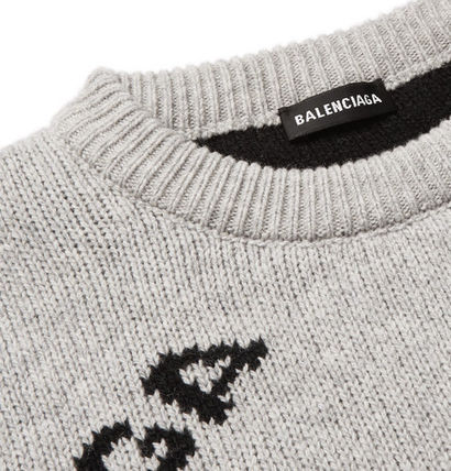 BALENCIAGA Knits & Sweaters Wool Long Sleeves Knits & Sweaters 10