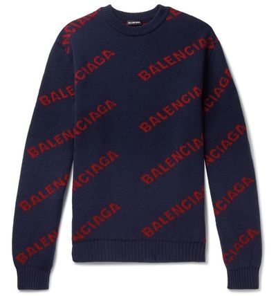 BALENCIAGA Knits & Sweaters Wool Long Sleeves Knits & Sweaters 12