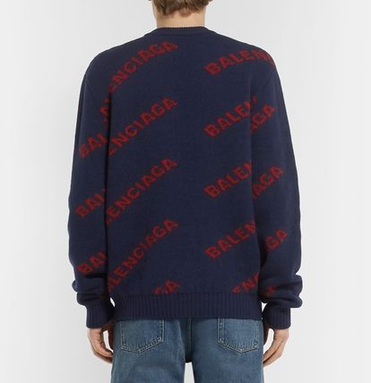 BALENCIAGA Knits & Sweaters Wool Long Sleeves Knits & Sweaters 14