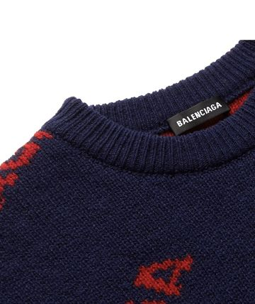 BALENCIAGA Knits & Sweaters Wool Long Sleeves Knits & Sweaters 15